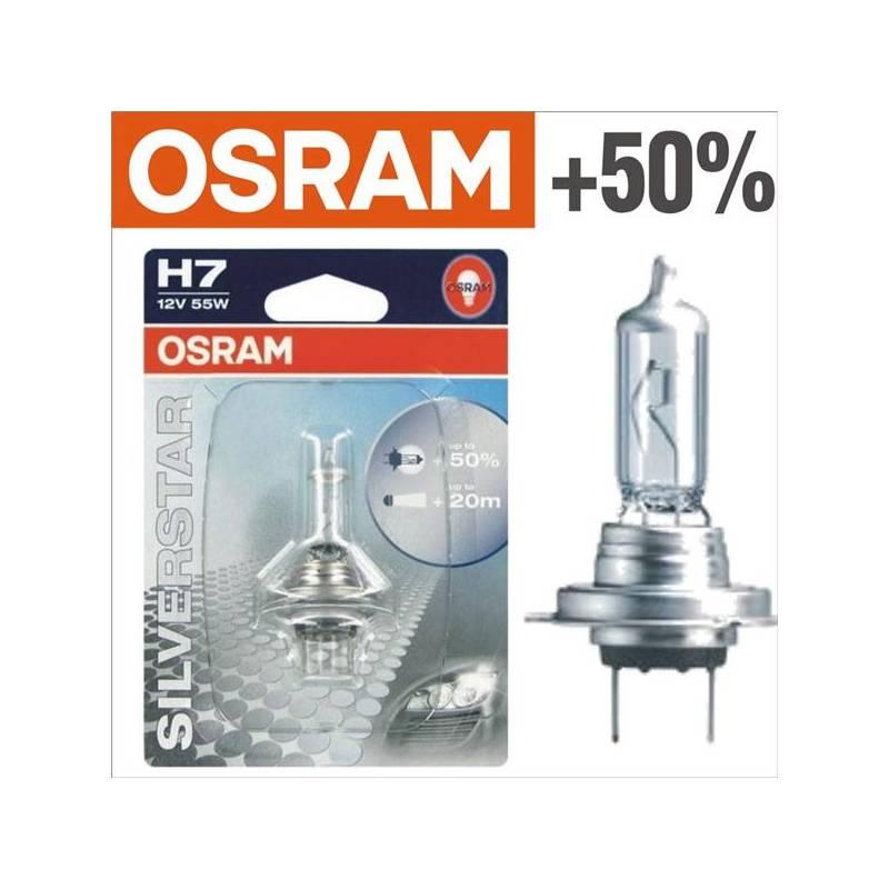 Autožárovka Osram 12V H7 55W PX26d 1ks Silverstar +50%