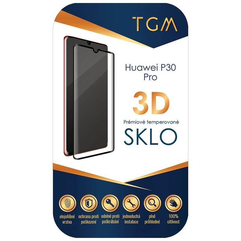 Ochranné sklo TGM 3D pro Huawei P30 Pro (TGM3DHUAP30PBK) čierne