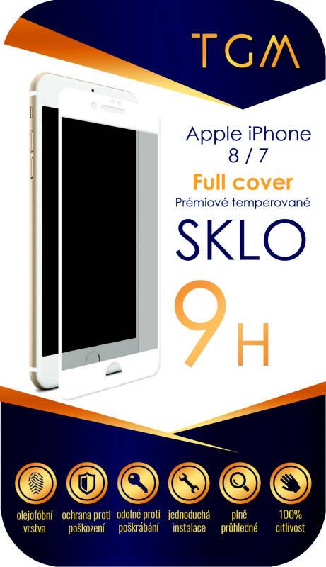 Ochranné sklo TGM Full Cover pro Apple iPhone 7/8 (TGMAPIP7/8WH) bílé