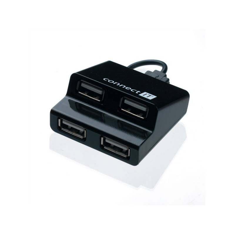 USB Hub Connect IT (CI-108) USB 2.0 / 4x USB 2.0 (CI-108) černý