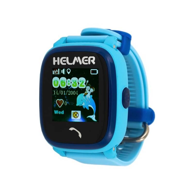 Chytré hodinky Helmer LK 704 dětské s GPS lokátorem (Helmer LK 704 B) modré