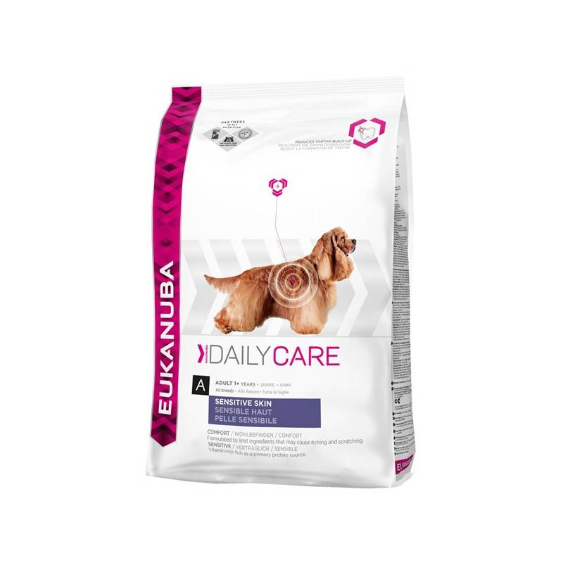 Granule Eukanuba Daily Care Sensitive Skin 12 kg