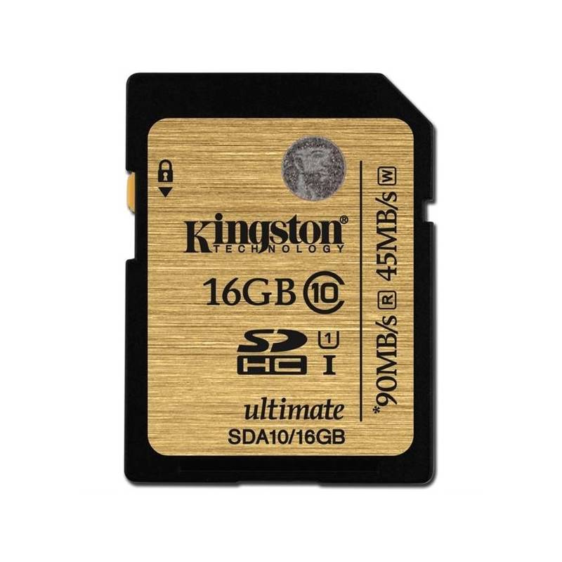 Pamäťová karta Kingston SDHC 16GB UHS-I U1 (90R/45W) (SDA10/16GB)