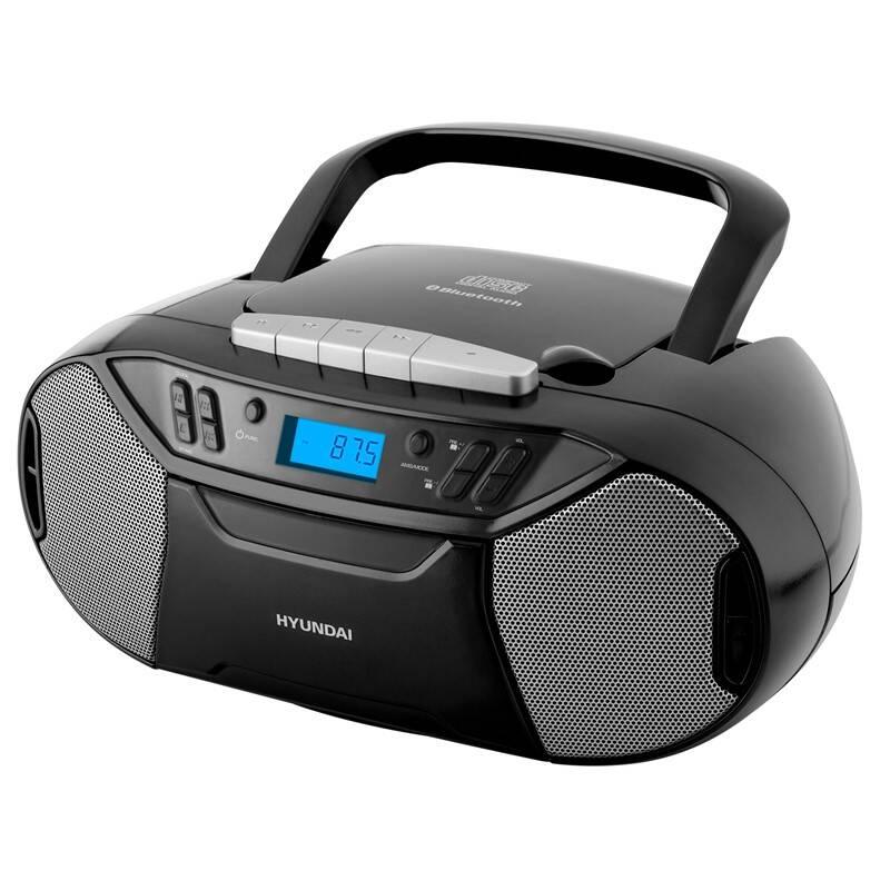 Rádiomagnetofón s CD Hyundai TRC 333 AU3BTB čierny + Doprava zadarmo