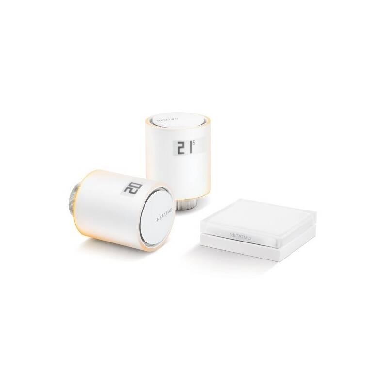 Bezdrátová termohlavica Netatmo Valves Starter Pack2x terrmohlavice a relé (NVP-EN) biela