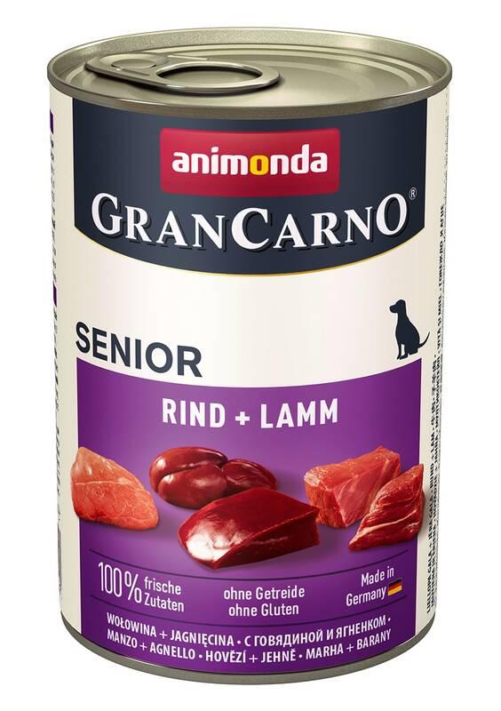 Konzerva Animonda Senior Gran Carno teľacie + jahňa 400 g