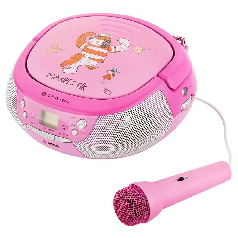 Rádioprijímač s CD GoGEN Maxipes Fík MAXIPREHRAVAC P ružový/fialový + Doprava zadarmo