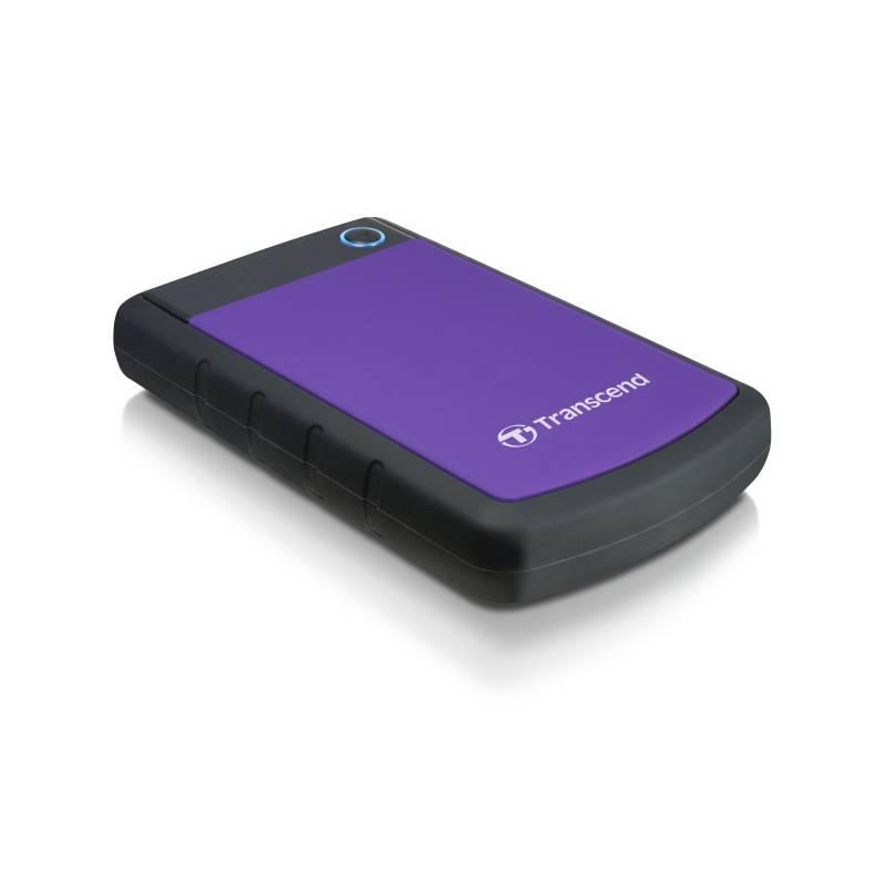 Externý pevný disk Transcend StoreJet 25H3P 1TB (TS1TSJ25H3P) čierny/fialový