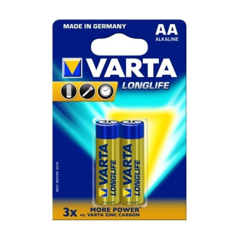 Batéria alkalická Varta Longlife, AA, 2 ks