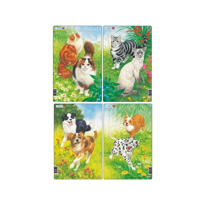 Puzzle Larsen Kočky a psi 2ks + Doprava zadarmo
