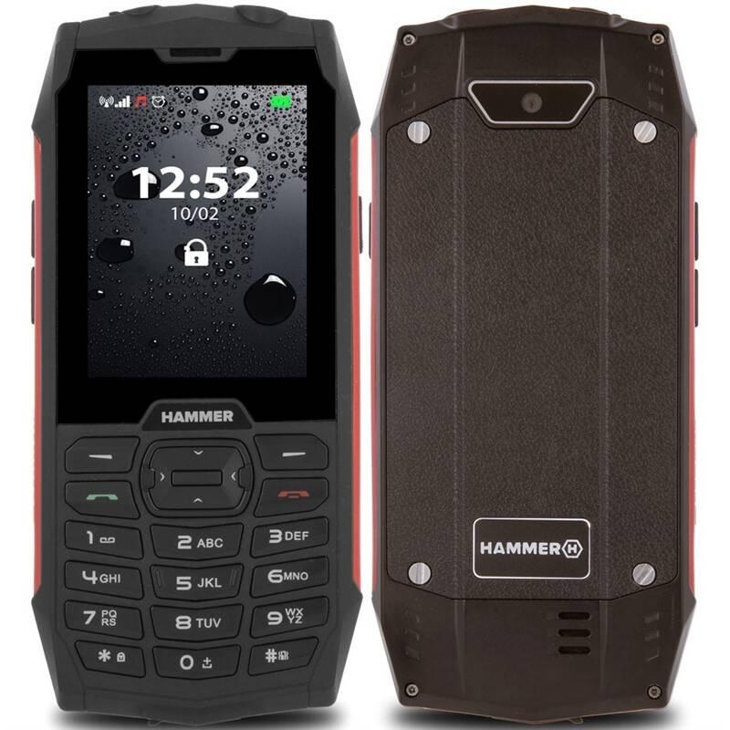 Mobilní telefon myPhone Hammer 4 Dual SIM (TELMYHHA4RE) červený