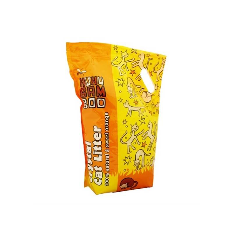 Podstielky Huhubamboo Silikonová pomeranč 7,2l