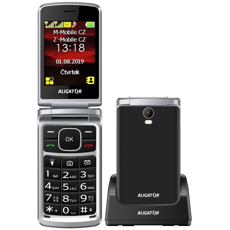 Mobilný telefón Aligator V710 Senior Dual SIM (AV710BS) čierny
