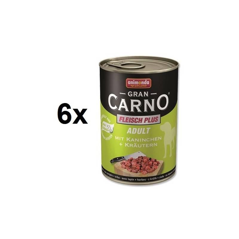 Konzerva Animonda Adult Gran Carno králík + bylinky 6 x 400g
