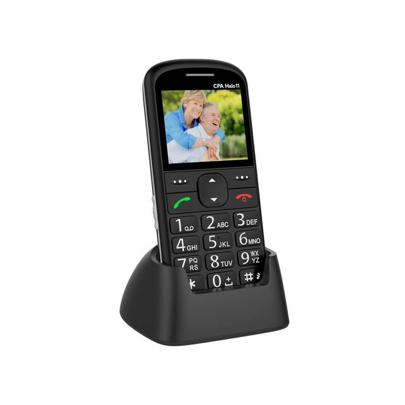 Mobilní telefon CPA Halo 11 Senior (TELMY1011BK) černý