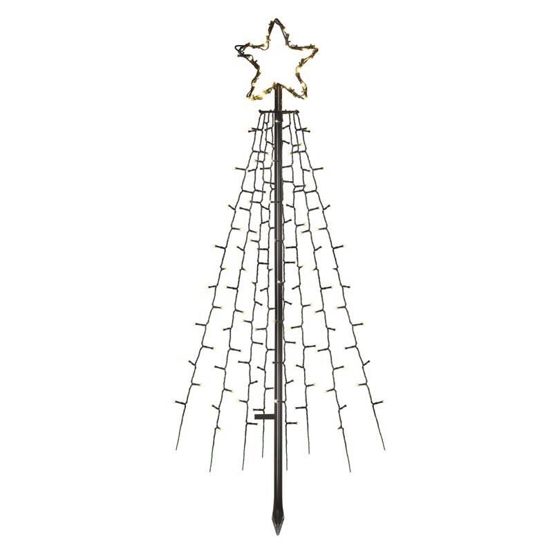 LED dekorace EMOS 180 LED vánoční strom kovový, 180 cm, venkovní i vnitřní, teplá bílá, časovač (DCTW02) + Doprava zadarmo