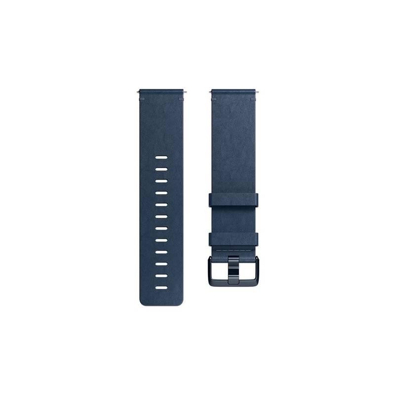 Náramok Fitbit pro Versa kožený - midnight blue small (FB166LBNVS)