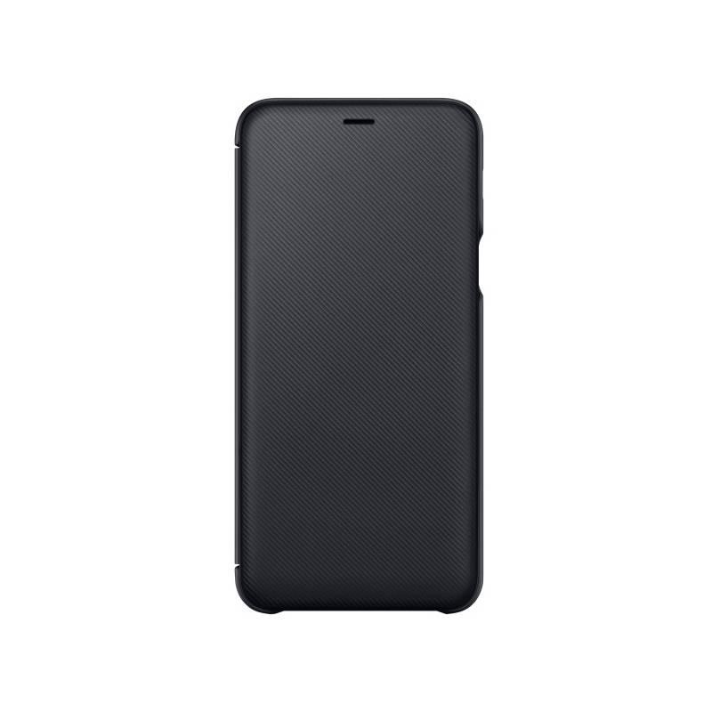 Puzdro na mobil flipové Samsung Wallet Cover pro Galaxy A6+ (EF-WA605CBEGWW) čierne