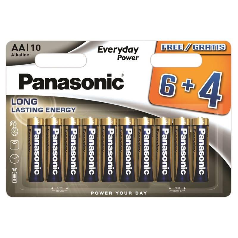 Batéria alkalická Panasonic Everyday Power AA, 6+4 ks (408594)