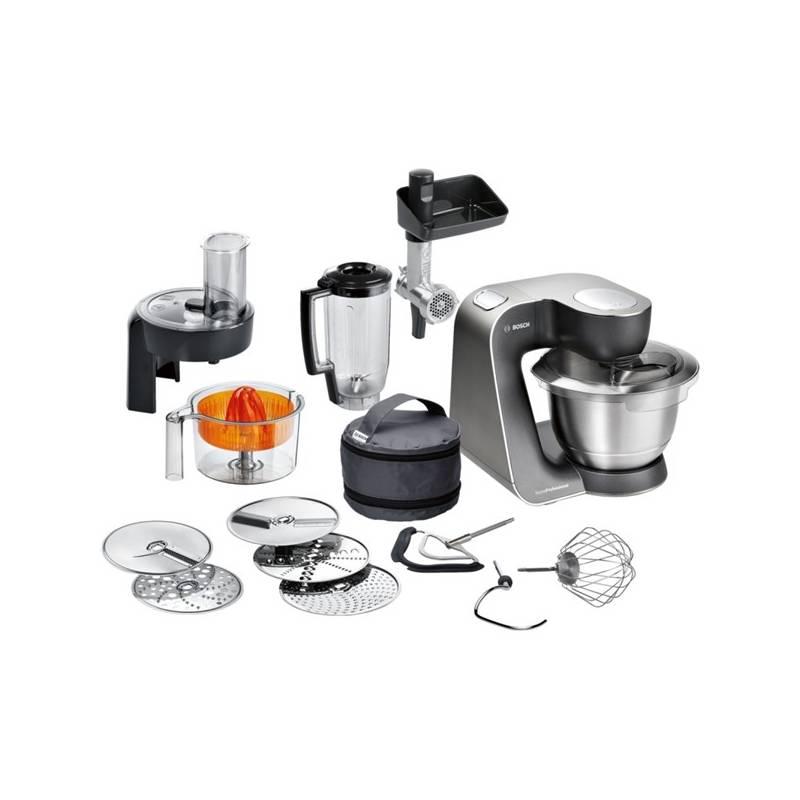 Kuchynský robot Bosch MUM57860 čierny/strieborný
