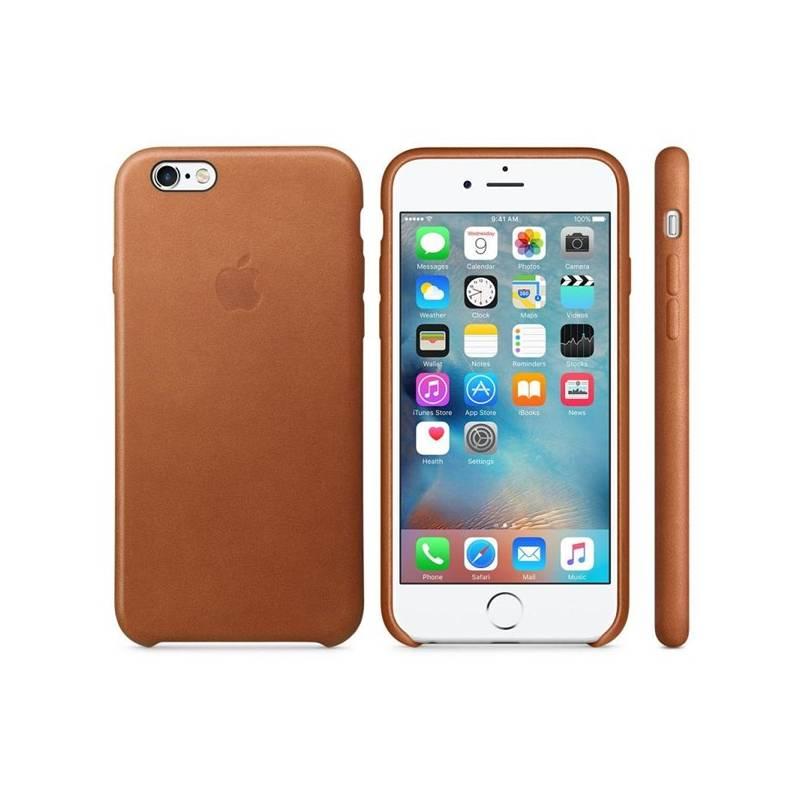 Kryt na mobil Apple Leather Case pro iPhone 6S - Saddle Brown (MKXT2ZM/A) hnedý