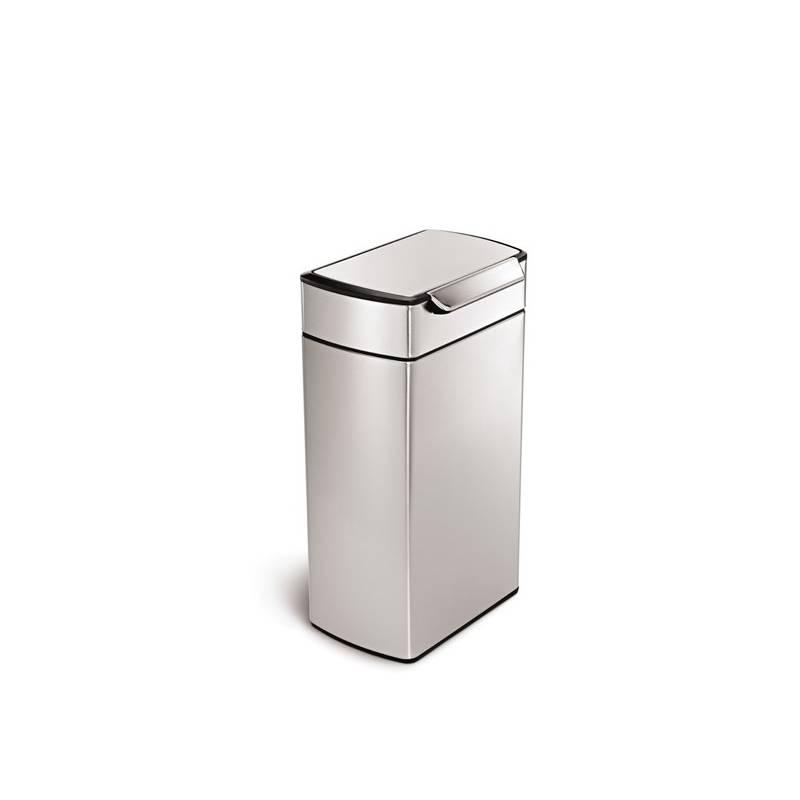 Odpadkový kôš Simplehuman Touch Bar 40 l (CW2014) strieborný Čistící přípravek na koupelny YOU 500 ml (zdarma) + Doprava zadarmo