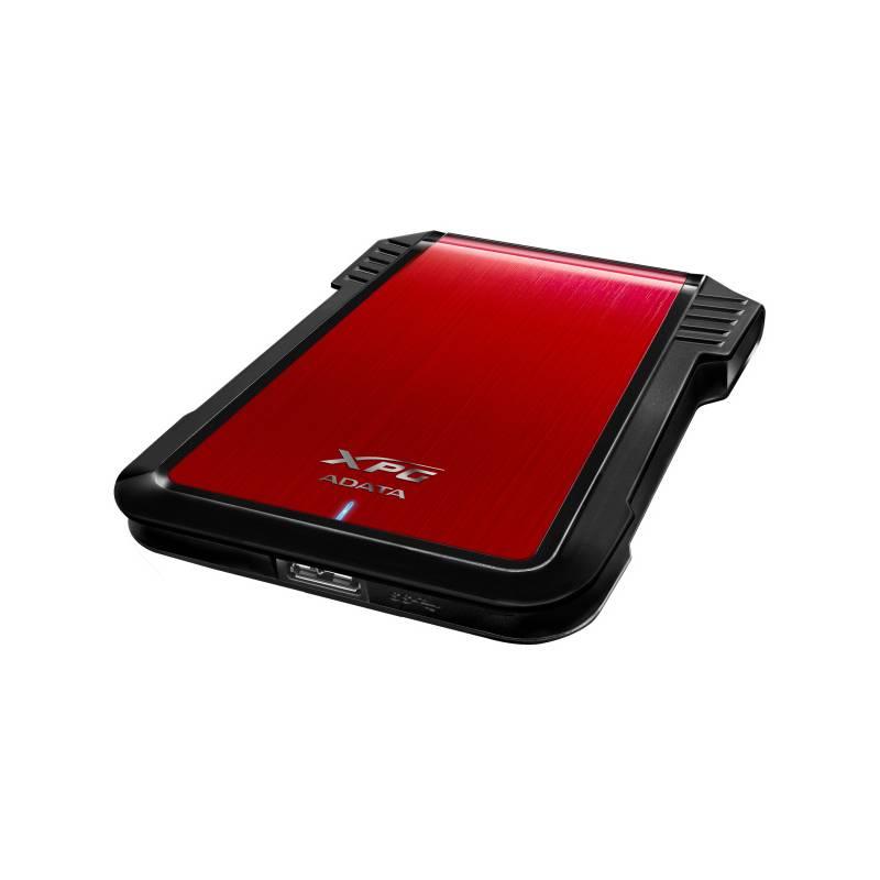 """Box na HDD ADATA EX500, 2,5"""" SATA, USB, 3.1 (AEX500U3-CRD) čierny/červený"""