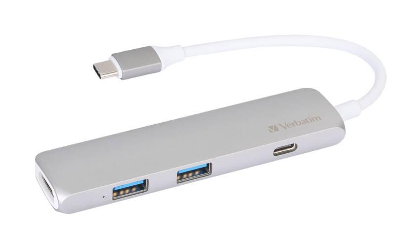 USB Hub Verbatim USB-C ,2x USB 3.0, HDMI (49540) sivý + Doprava zadarmo