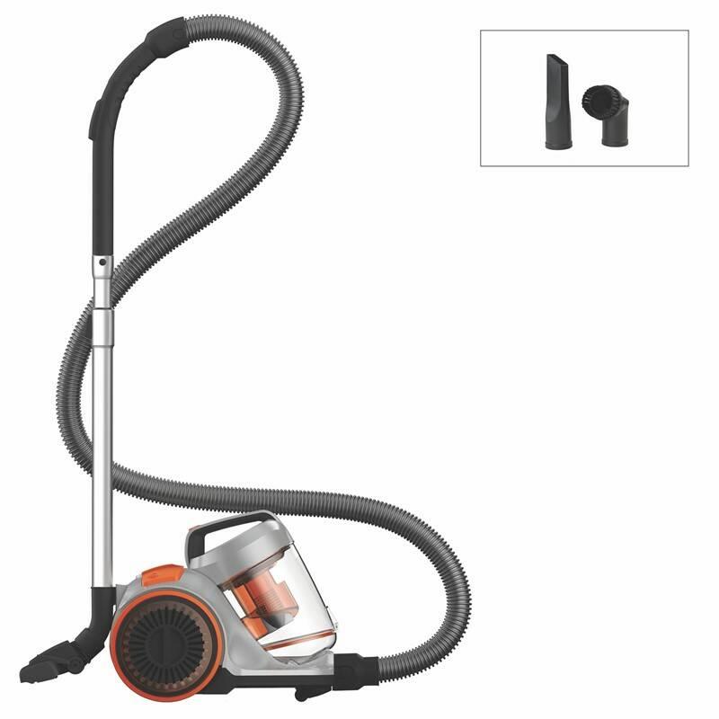 Podlahový vysávač Dirt Devil DD2750-0 Pick Up Power sivý/oranžový + Turbohubica vzduchová Dirt Devil M219 plast v hodnote 7.90 €
