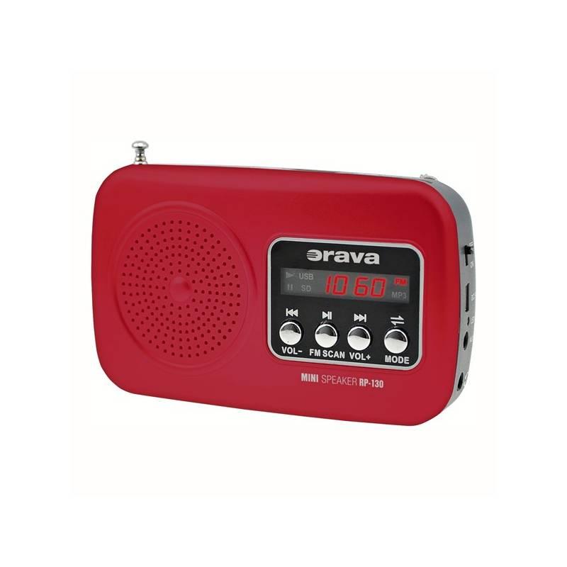 Radiopřijímač Orava RP-130 červený