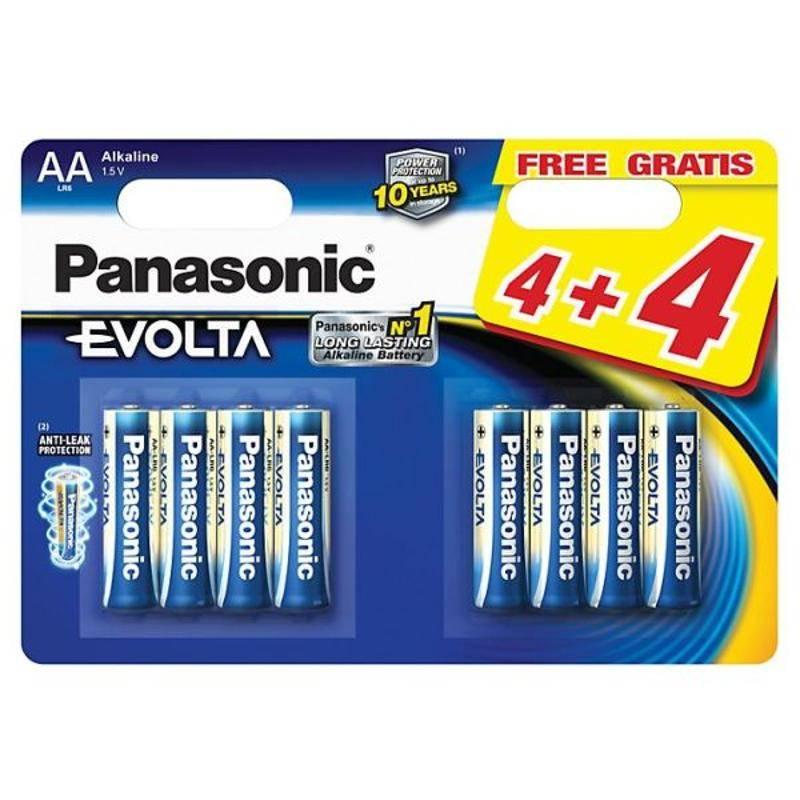 Batéria alkalická Panasonic Evolta AA, 4+4 ks (225998)