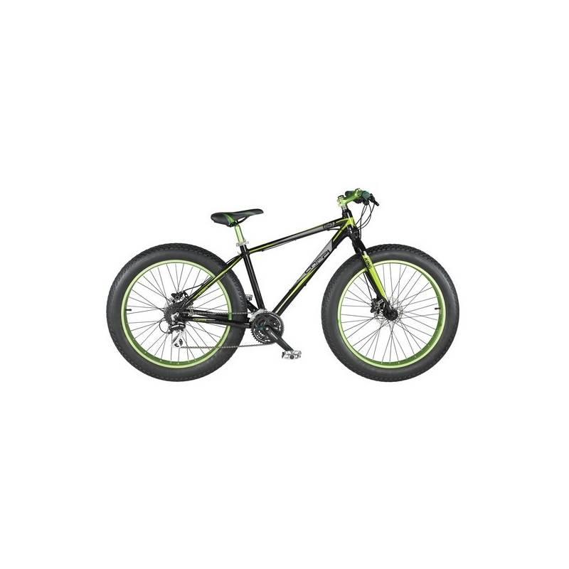 "Fat Bike Coppi King Fat bike, vel. 26"" čierny/zelený + Doprava zadarmo"