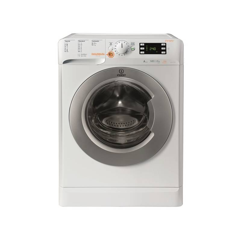 Automatická práčka so sušičkou Indesit XWDE 961480X WSSS EU biela Čistič oken ETA Aquarelo 0262 90000 (zdarma) + Doprava zadarmo