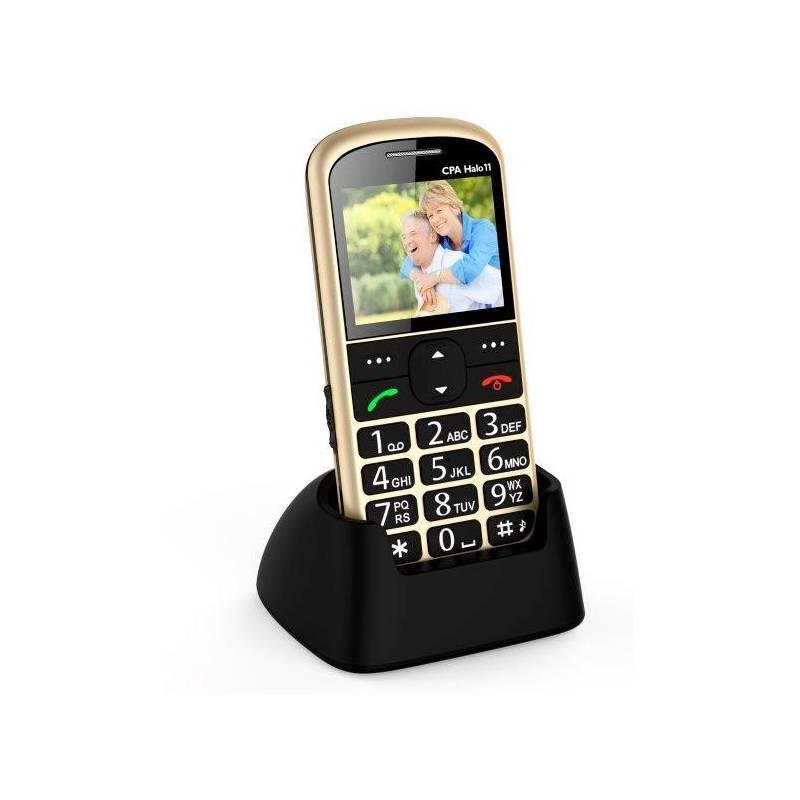 Mobilní telefon CPA Halo 11 Senior (TELMY1011GO) zlatý