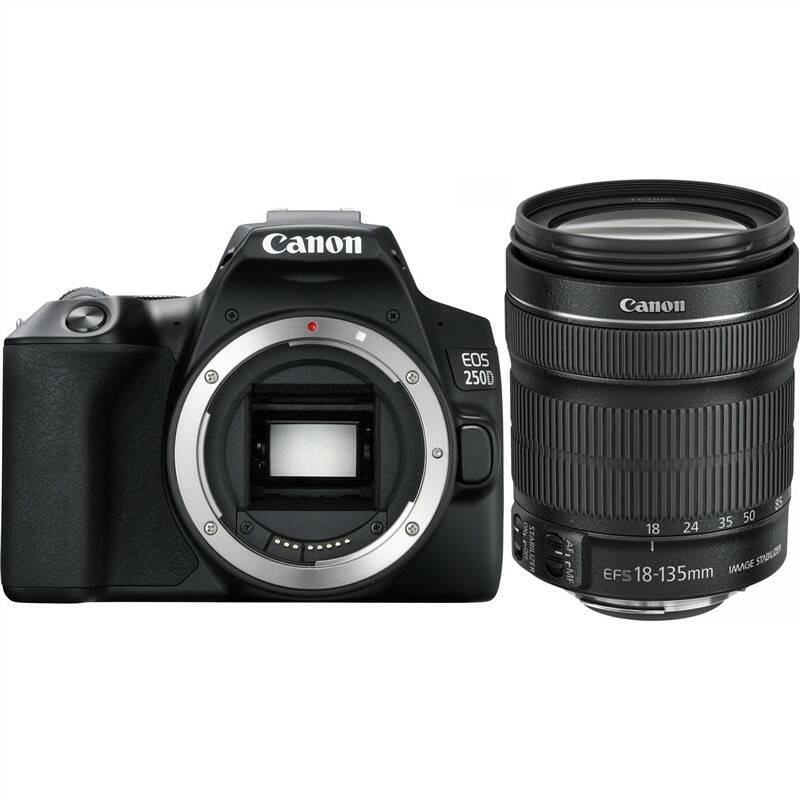 Digitálny fotoaparát Canon EOS 250D + 18-135 IS STM (3454C019) čierny + Doprava zadarmo