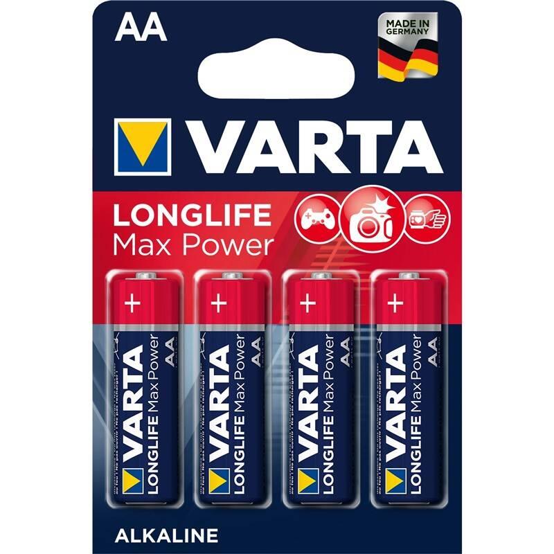 Batéria alkalická Varta Longlife Max Power AA, LR06, blistr 4ks (4706101404)
