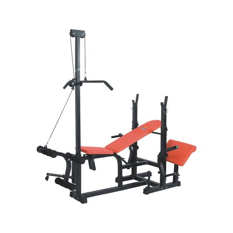 Posilňovacia lavica Brother víceúčelová se stojanem a kladkou - nosnost do 150 kg + Doprava zadarmo