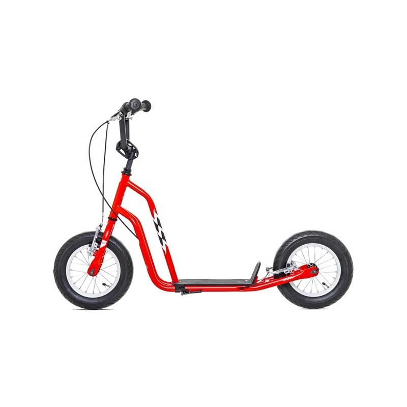"""Kolobežka Yedoo Basic Wzoom 12"""" červená + Reflexní sada 2 SportTeam (pásek, přívěsek, samolepky) - zelené v hodnote 2.80 € + Doprava zadarmo"""