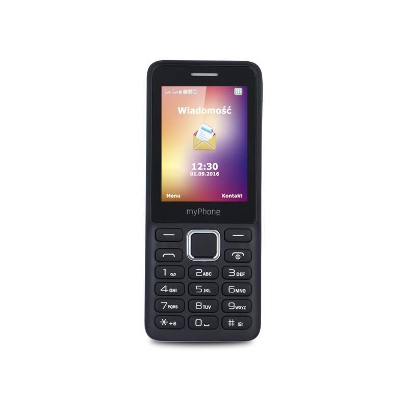 Mobilní telefon myPhone 6310 Dual SIM (TELMY6310BK) černý