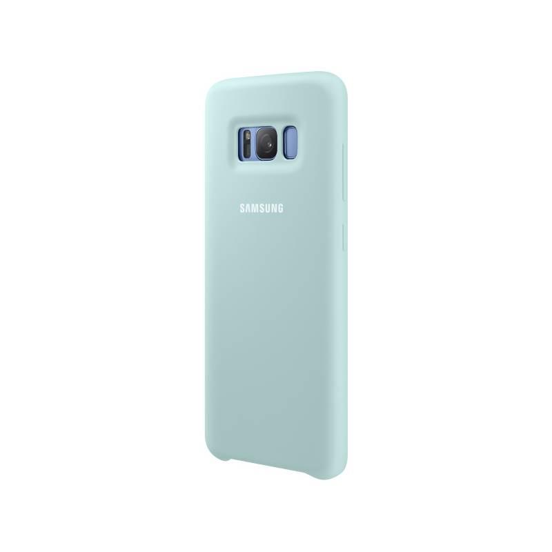 Kryt na mobil Samsung Silicon Cover pro Galaxy S8+ (EF-PG955T) (EF-PG955TLEGWW) modrý