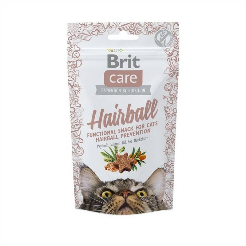 Pochúťka Brit Care Cat Snack Hairball 50 g