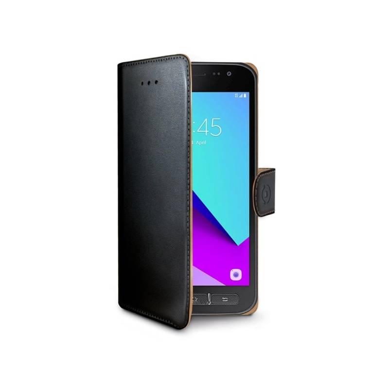 Puzdro na mobil flipové Celly Wally pro Samsung Galaxy Xcover 4 (G390) (WALLY654) čierne