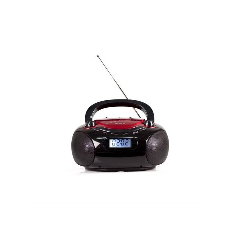 Rádioprijímač Orava RSU-04 čierny/červený
