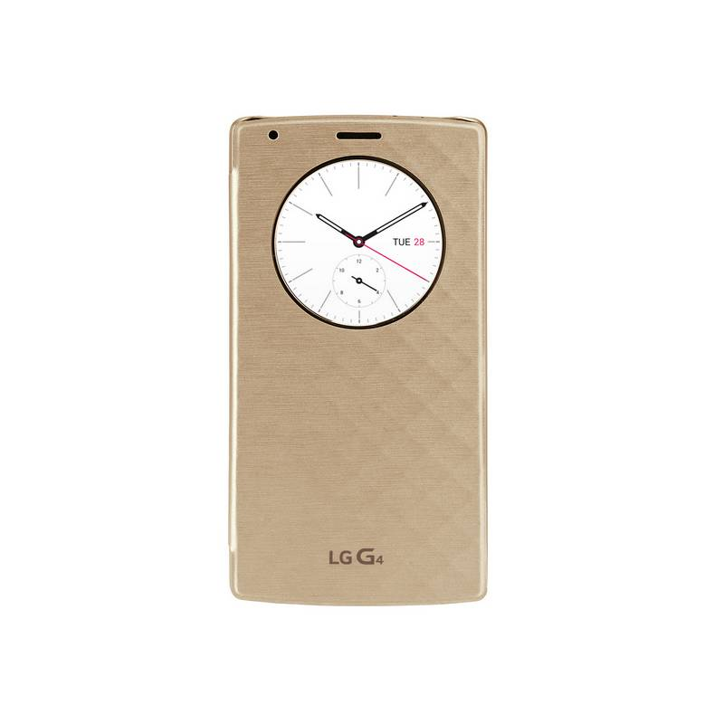 Púzdro na mobil flipové LG Quick Circle (Replacement) pro G4 (CFR-100.AGEUGD) zlaté