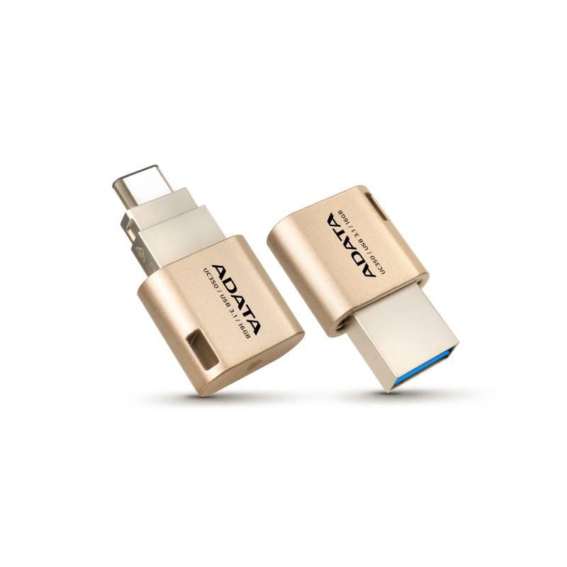 USB flash disk ADATA UC350 16GB OTG USB-C/USB 3.1 (AUC350-16G-CGD) zlatý