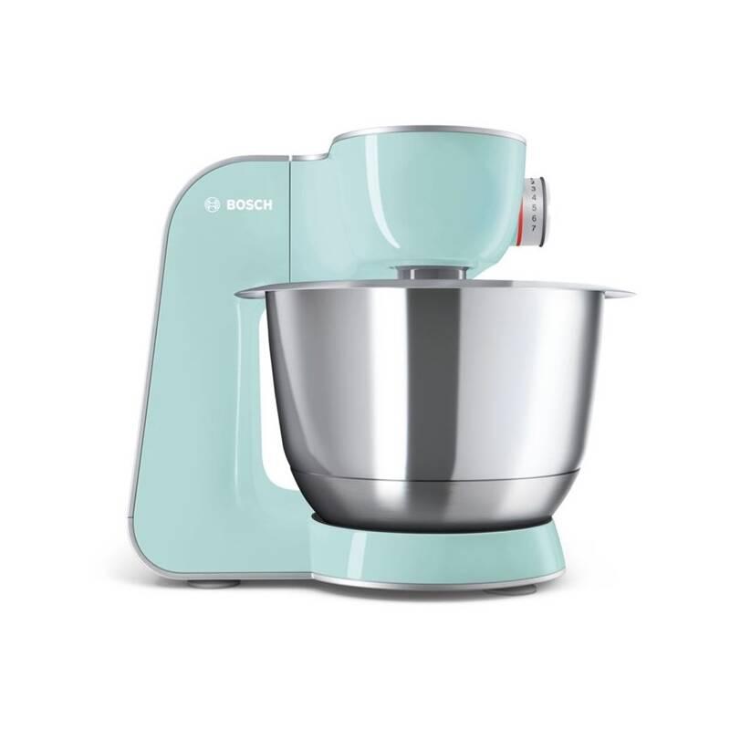 Kuchynský robot Bosch CreationLine MUM58020 strieborný/tyrkysový