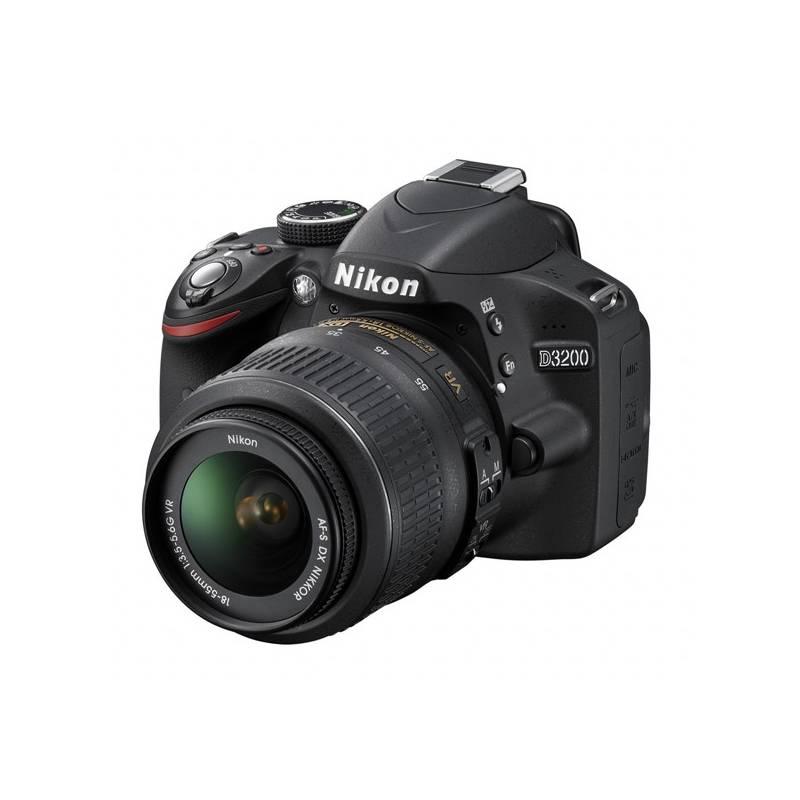 Digitálny fotoaparát Nikon D3200 + 18-55 AF-S DX VR II, stabilizovaný objektív čierny + Doprava zadarmo