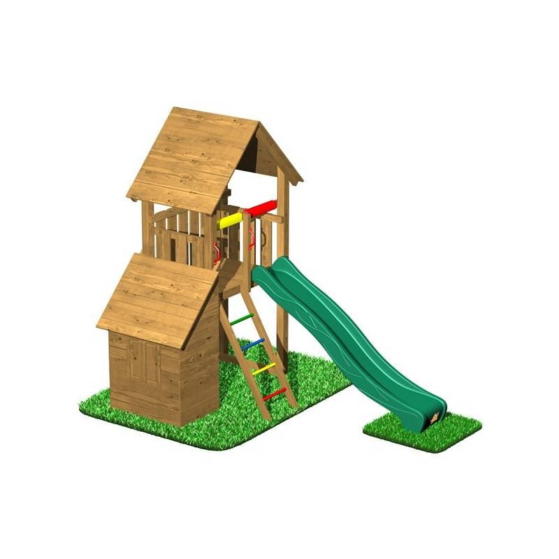 Detské ihrisko CUBS Honza 4 - věž s domečkem + Doprava zadarmo