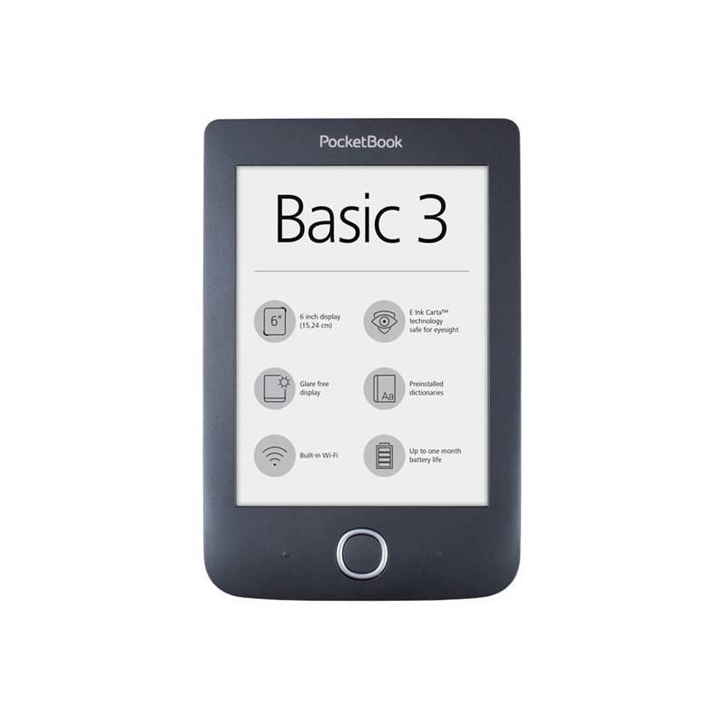 Čítačka kníh Pocket Book 614+ Basic 3 (PB614W-2-E-WW) čierna