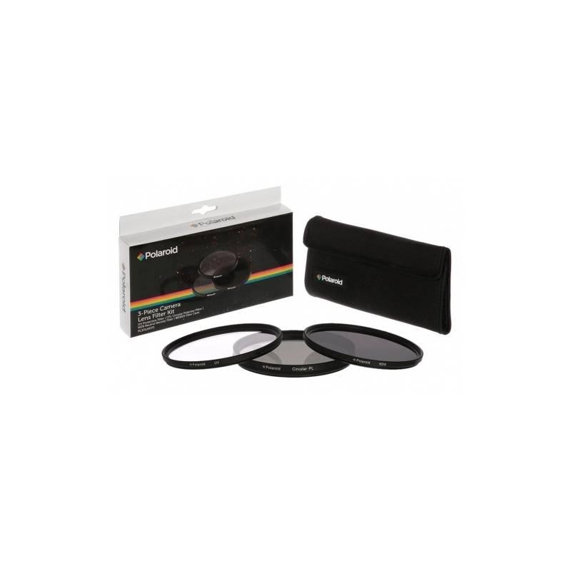 Filter Polaroid 58mm (UV MC, CPL, ND9), set 3ks (PL3FILND58) čierny